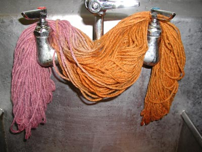 yarn dyed with RIT dregs